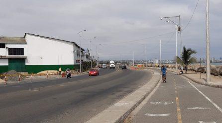 Hoy se cierra otra vez la vía Puerto-Aeropuerto para continuar con la línea de impulsión
