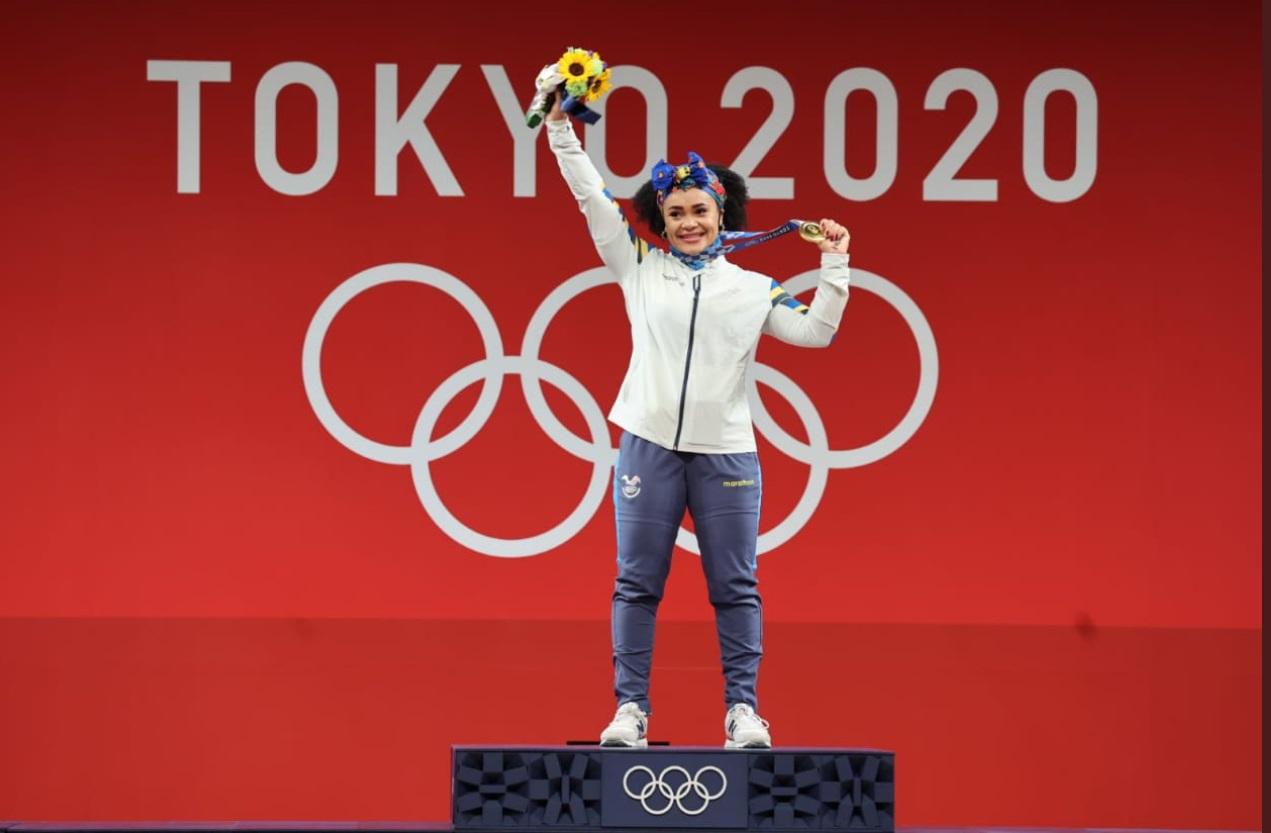 Con alegría y orgullo ecuatoriano, Neisi Dajomes fue la estrella de la noche en Tokio